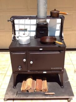 Antique Canberra Cast Iron Wood Stove Algester Brisbane South West Preview