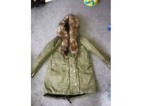 Women's River Island Coat worn once size 14 £20 Ono.