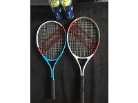 Slazenger tenis racquets with tennis balls
