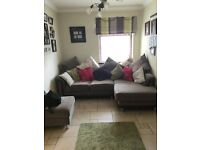 Corner Sofa (including cushions) & Large foot stool