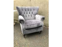 New/Ex-display stunning grey accent chair