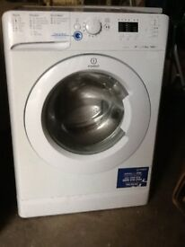 indesit washing machine in white 8 kg drum 1600 spin speed fully refurbished