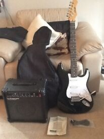 Stagg Electric Gutar and Watson Amplifier + Guitar Bag & New Lead