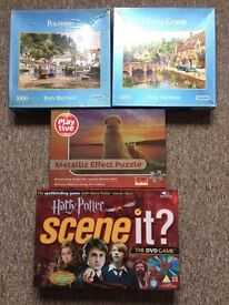 Jigsaw puzzles and Harry Potter DVD board game