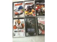 Psp street with games and accessories plus case