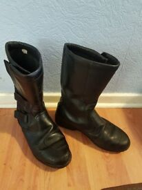 Leather Biker Boots Size 9