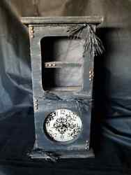 Tall, Wall Clock, Two Shelves, Gothic, Spooky, Tree,