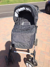 Silver Cross Pram with change bag and raincover and cosy insert