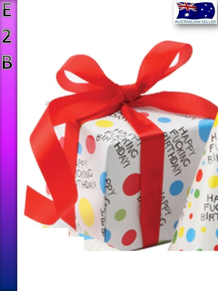 Happy fucking birthday gift wrap funny adult x rated party wrapping product description negle Gallery