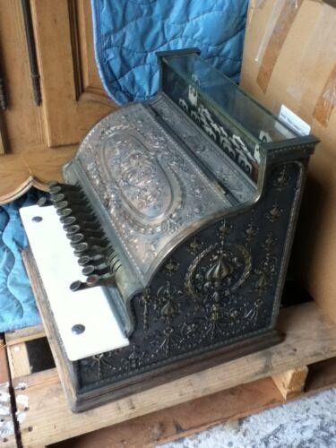 Antigue 1910ca Brass Vintage National Cash Register Model 332 - Works