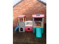 Little tykes climbing house with slide