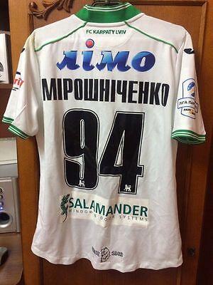 FC KARPATY LVIV LVOV SHIRT MATCHWORN MIROSHICHENKO #94 UKRAINE PARIMATCH 2017 image