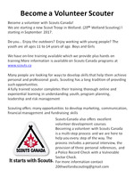 Volunteers wanted for Scouts Canada Welland