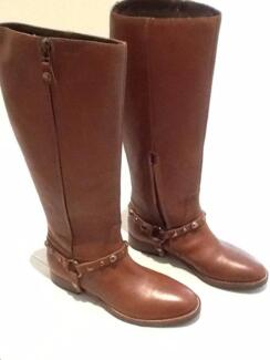 Brand New GEOX Women Tall Leather Boots