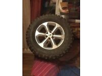 4rims and tyres for Nissan NAVARA.on and off road tyres.good condition.
