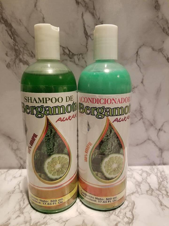 Shampoo & Acondicionador Bergamota Aukar 100% Natural(2Pack) Caída & Crecimiento
