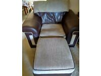 REDUCED! Armchair and Storage Pouffe