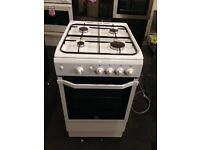 white indesit 50cm gas cooker