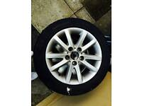 Bmw alloy wheels with winter tyres