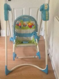 Fisher Price Rocker/Swing includes new batteries