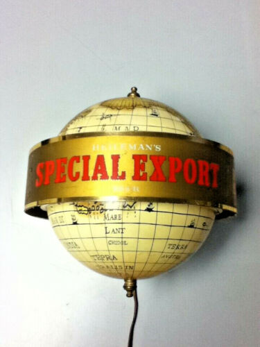 Special Export beer sign vintage lighted wall sconce motion spinning light D3