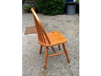 6 pine dining Room/kitchen chairs