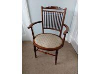 Rare Antique Victorian ladies parlour / bedroom chair - Edinburgh
