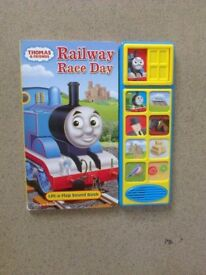 Thomas & friends railway race day play and sound book age 18 mths
