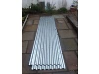 2 corrugated steel sheets. Not Used