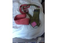 Hermes ties. (Green and red)