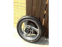 Newish rear tyre on rim for 600 Diversion.