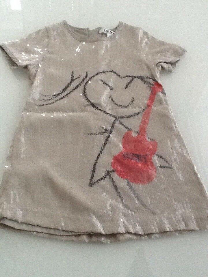 **DKNY SILVER/GREY AGE 2 DRESS PERFECT CONDITION***