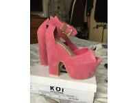Pink platform heels size 5