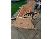 Outdoor Wooden rocking horse bench