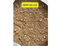 20mm ballest sharp sand and cement