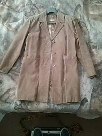 Leather suede women's for women size 14 jacket
