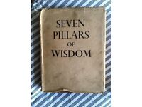 T. E. Lawrence. Seven Pillars of Wisdom. 1935 First Edition. Antique, very collectable.