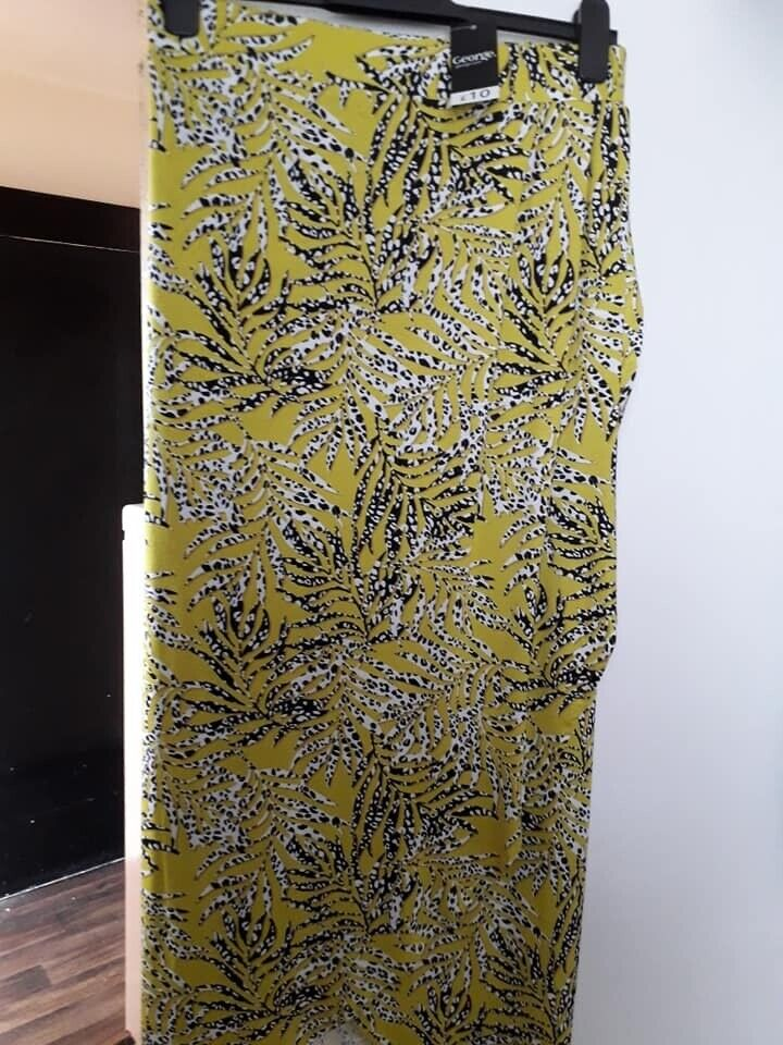 factory uk store most fashionable Lime palm print jersey wrap style maxi skirt (ASDA SIZE 20) Brand new | in  Portsmouth, Hampshire | Gumtree