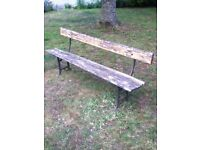 antique/rustic garden bench
