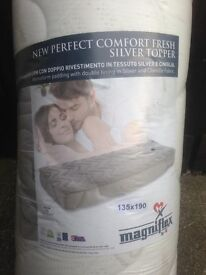 "BRAND NEW 4FT 6"" DOUBLE MAGNIFLEX COMFORT MEMORY TOPPERS FOR SALE.."
