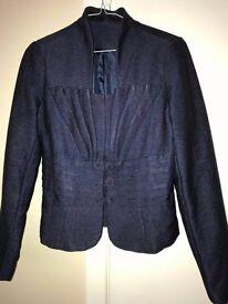 women navy blue trouser suit. size 10