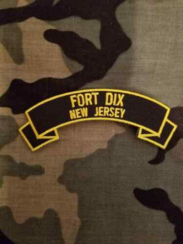 "Fort Dix 4"" rocker tab embroidered patch"