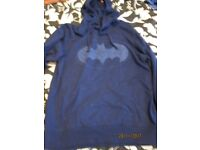 NAVY BLUE BATMAN LOGO HOODIE SIZE M IN AS NEW CONDITION