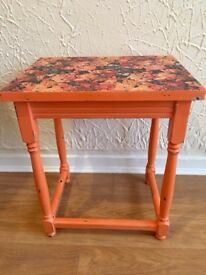 Side Table - Vibrant & Floral