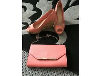 Shoes size 8 and hand bag both are brand new no tags
