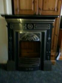 Cast surround fire places