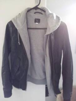Rip Curl leather jacket with cotton lining Panania Bankstown Area Preview