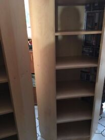Two Ikea Billy Corner Bookcase