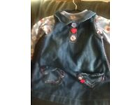 Next denim girls dress 9-12months