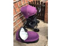 purple joie pram pushchair
